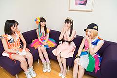 左から関根梓(アップアップガールズ(仮))、新井ひとみ(東京女子流)、高橋麻里(Dorothy Little Happy)、鈴木真梨耶(Cheeky Parade)。