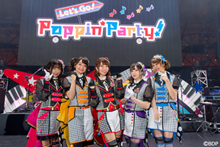 「BanG Dream! 6th☆LIVE Poppin'Party『Let's Go! Poppin'Party!』」の様子。