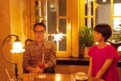 左から佐野史郎、南壽あさ子。