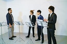 左から吉原光夫、ユーキ、ユースケ、タカシ。