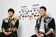 左から水野勝、田中俊介。