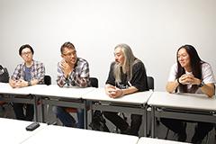 左からsusumu-k(G, Cho)、ko(Vo)、今剛(G)、長谷川浩二(Dr)。