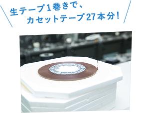カセットデュプリケーターによって作られた生テープ。