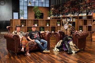 左から劇団☆新感線の俳優・古田新太、主宰者・いのうえひでのり、デーモン閣下。