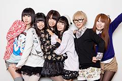 左から夢眠ねむ、相沢梨紗、古川未鈴、藤咲彩音、最上もが、成瀬瑛美