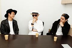 左からRyo(Crystal Lake)、DJ BAKU、KOJI(SWANKY DANK)。