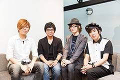 左からkors k、Ryu☆、かめりあ、P*Light。