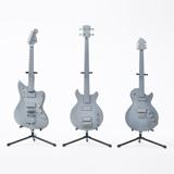 「LUNA SEA 25th Anniversary Guitar Collection 1/8 Scale Figure」INORANモデルギター、Jモデルベース、SUGIZOモデルギターの各試作品(左から)