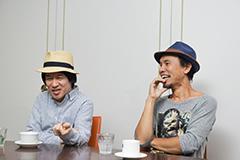 左から鈴木圭介(Vo)、グレートマエカワ(B)。