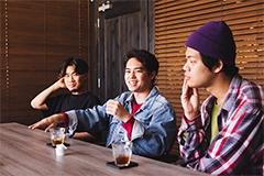 左からMONJOE(DATS)、Yuto Uchino(The fin.)、奥冨直人(BOY)。