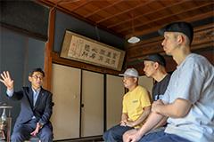 左から佐藤町長、HUNGER、DJ Mitsu the Beats、DJ Mu-R。