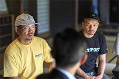 左からHUNGER、DJ Mitsu the Beats。