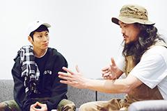 左からTAKUYA∞(UVERworld)、茂木洋晃(G-FREAK FACTORY)。