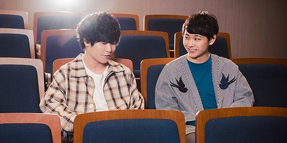 左から渡井翔汰(Halo at 四畳半 / Vo, G)、須賀健太。