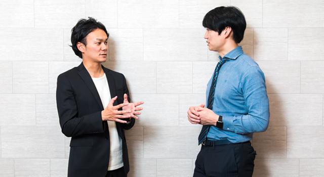 左から平井拓郎(juJoe)、ゆうきゆう(ゆうメンタルクリニック理事長)。