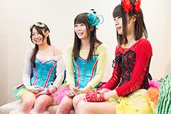 左から新矢皐月(スチームガールズ)、桜のどか(アリス十番)、愛沢美奈(アーマーガールズ)。