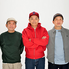 スチャダラパー。左からSHINCO、Bose、ANI。