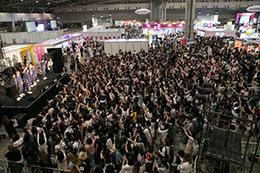 「KCON 2017 JAPAN」コンベンションエリアの様子。