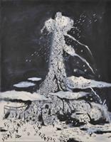 「のぼれ!すすめ!高い塔」のMV用に西島大介が描いたF50(1168×910mm)サイズのイラスト。
