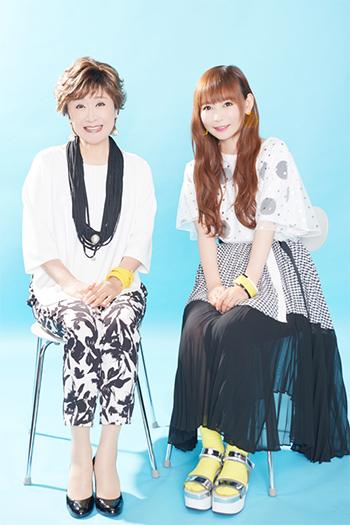左から小林幸子、中川翔子。