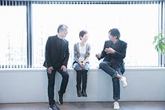 左から松本隆、クミコ、冨田恵一。