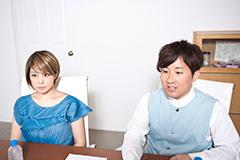 左から内村友美(Vo)、江口亮(Key)。