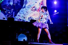 1月10日、東京・日本武道館でのLiSA「LiVE is Smile Always~PiNK&BLACK~ いちごドーナツ」公演の様子。