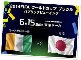 2014 FIFA ワールドカップ ブラジル パブリックビューイング「コートジボワールvs日本」