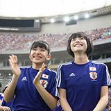 「2014 FIFA ワールドカップ ブラジル パブリックビューイング『コートジボワールvs日本』」より大賀咲希、倉島颯良。