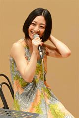 坂本真綾(写真は3月9日に実施されたアルバム「シンガーソングライター」先行試聴会の様子)