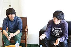 左からノブリル(G, Cho)、デストロイはるきち(Vo, G)。