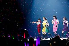 """「MOMOIRO CLOVER Z DOME TREK 2016 """"AMARANTHUS/白金の夜明け""""」最終公演の様子。"""