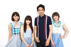 左からKaede、Nao☆、田島貴男、Megu。