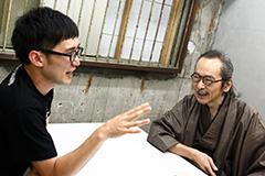 左からじろう、和嶋慎治。
