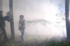 小倉唯「Future Strike」ミュージックビデオ撮影時の様子。