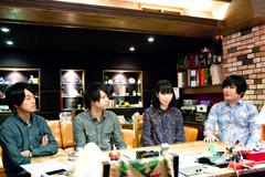 左から中山顕洋氏(muevo)、田中健司氏(muevo)、松木智恵子(ピロカルピン)、岡田慎二郎(ピロカルピン)。