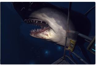 「Ocean Descent」プレイ画面。