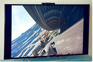 「VR Luge」プレイ画面。