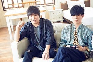 左から阪井一生(G)、尼川元気(B)。