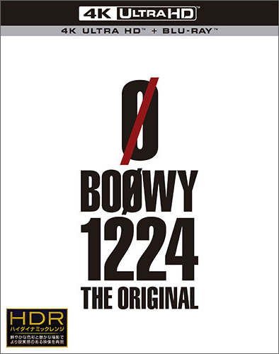 BOØWY「BOØWY 1224 -THE ORIGINAL-」[Ultra HD Blu-ray + Blu-ray]