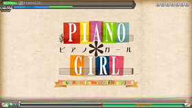 OSTER project「PIANO*GIRL」プレイ画面
