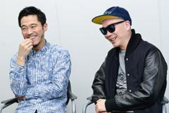 左から、DJ JIN、宇多丸。