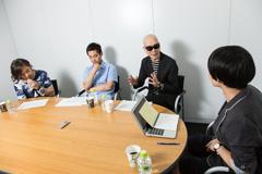 左からMummy-D、DJ JIN、宇多丸、小出祐介(Base Ball Bear)。