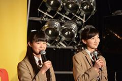 「南波一海のアイドル三十六房」公開収録に参加した田口華、野津友那乃。