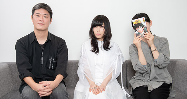 左から向井雅浩、さユり、小田嶋瞳。