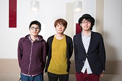 左からemon、茂木伸太郎、ヒゲドライバー。