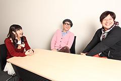 左から竹達彩奈、沖井礼二、小林俊太郎