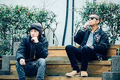 左からJESSE(The BONEZ)、Kj(Dragon Ash)。