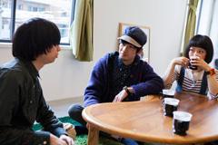 左から、尾崎、いちろー、せんせい