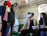 長良川鉄道に乗車しながら駅弁を堪能。